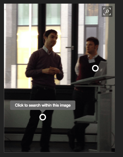 The automatic object detection of Bing for images