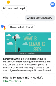 What is Semantic SEO - Google Assistant