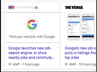 Google Top News Carousel with AMp