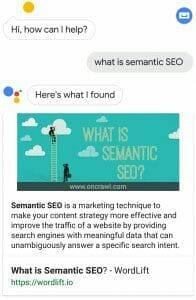 What is semantic SEO? - Voice Search