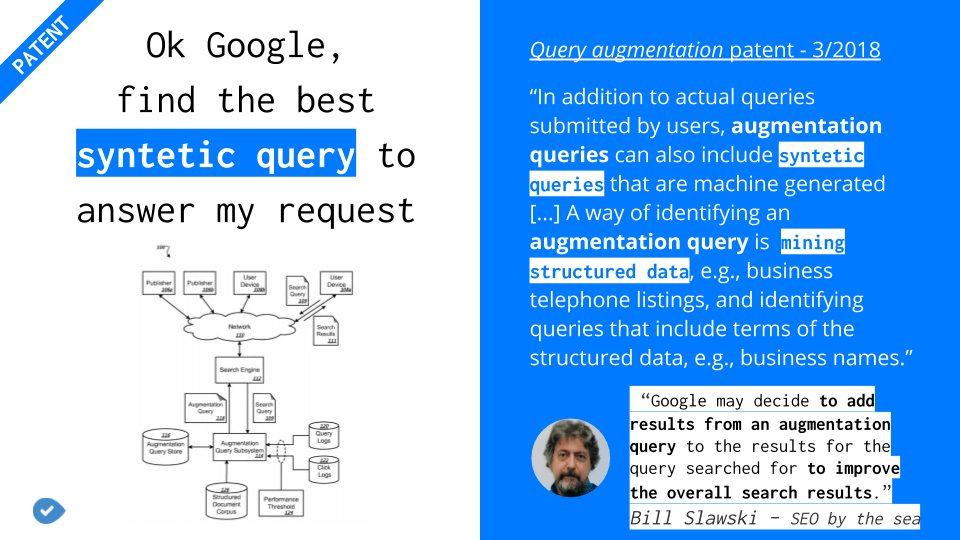 How structured data might be used in Google synthetic queries