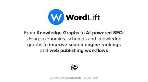 Knowledge Graphs and AI powered SEO