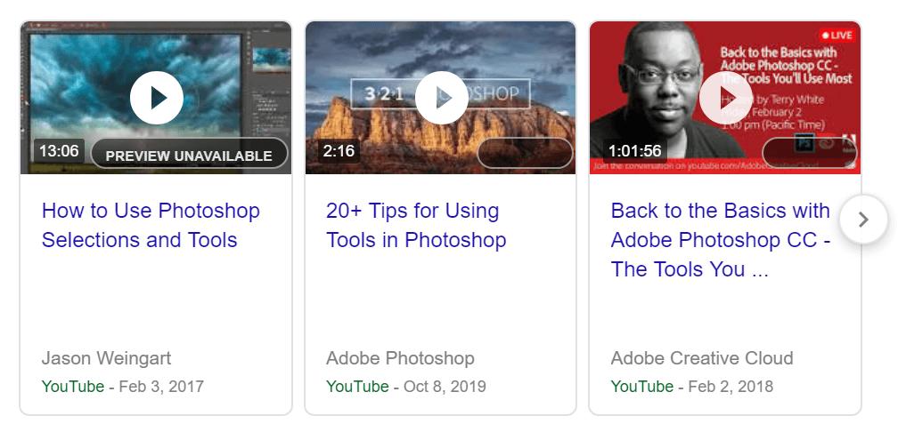 Software videos