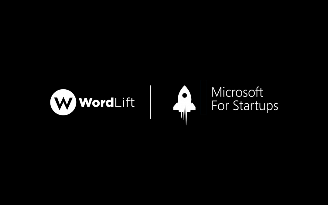 WordLift selected among the best startups worldwide to join Microsoft for Startups program