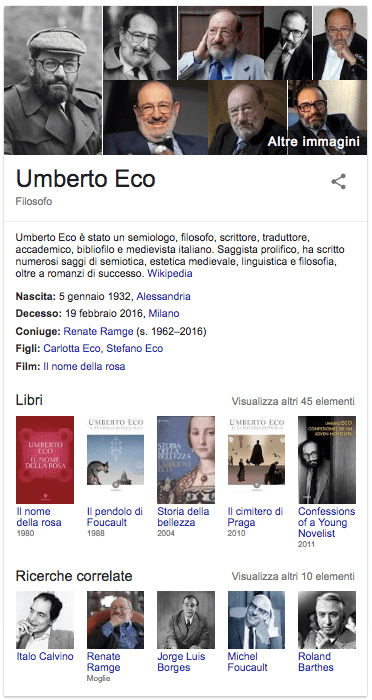Knowledge Graph - Umberto Eco