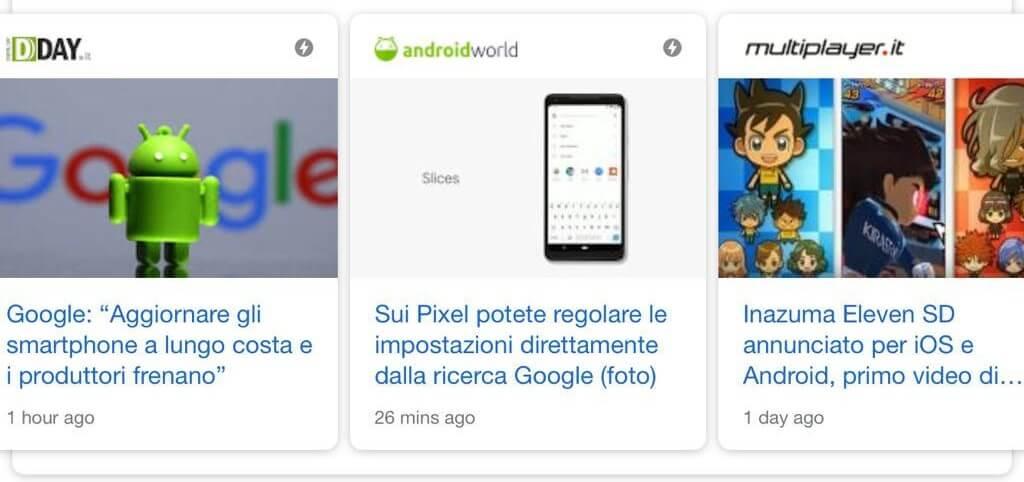 notizie principali google