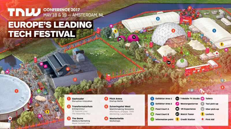 TNW Conference 2017 | Map