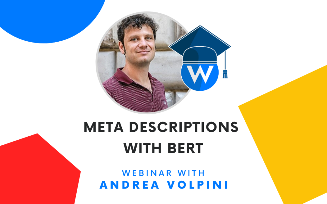 [Video Tutorial] Generating meta descriptions with BERT