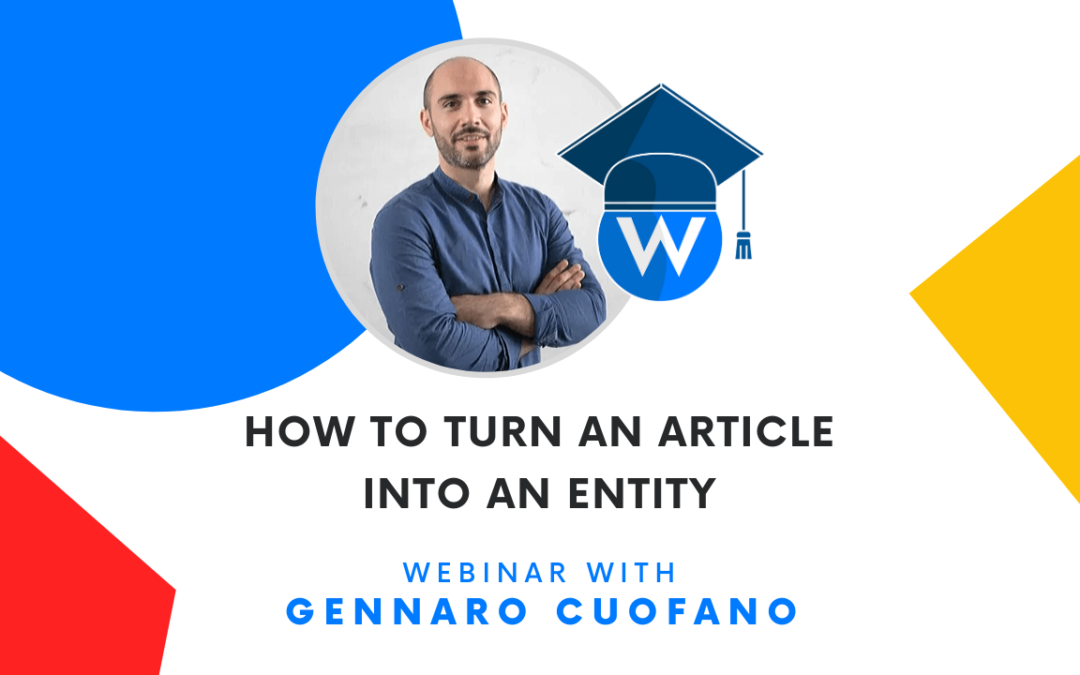 WordLift | How to Turn an Article into an Entity